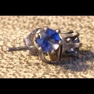 Jewelry - Sterling Silver Synthetic Alexandrite Earrings.